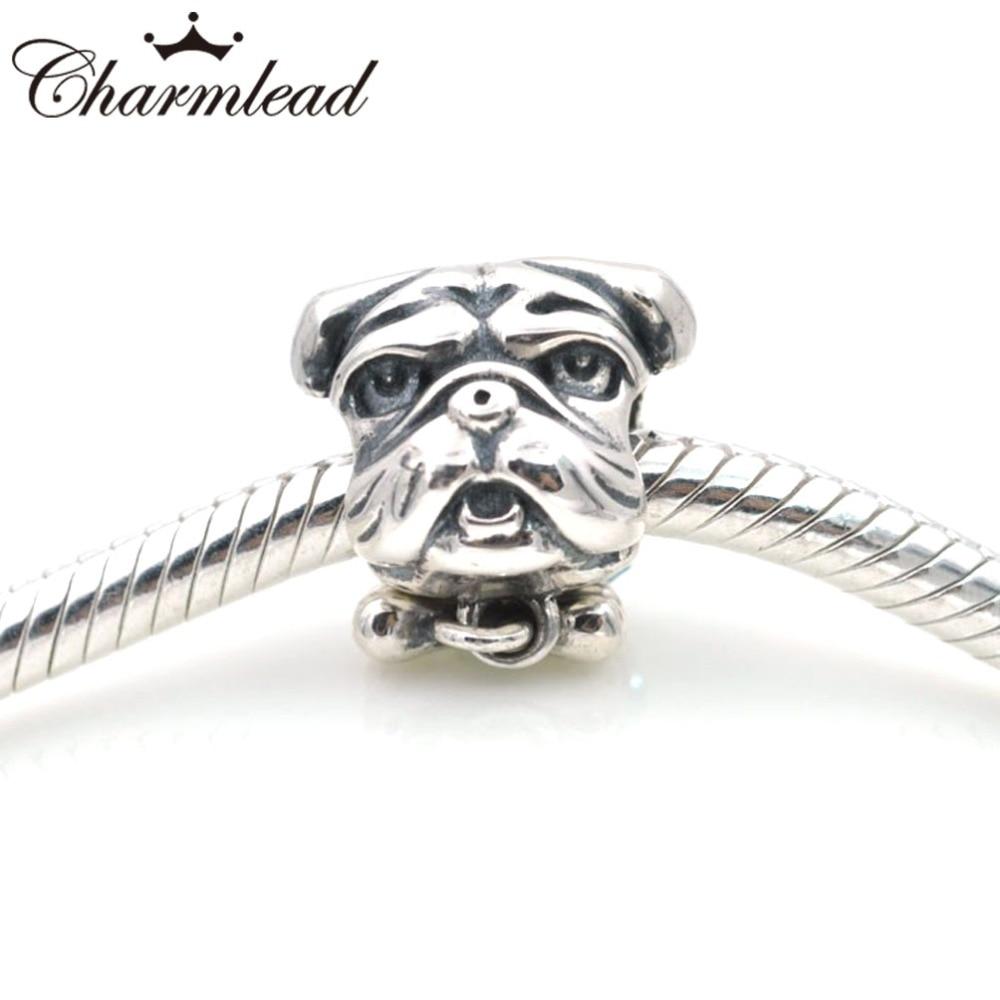 New 925 Silver Puppy Dog Love Bone Paw Print Charm Cheap Fit Pandora Chamilia Style Bracelet Snake Chain IVJOK