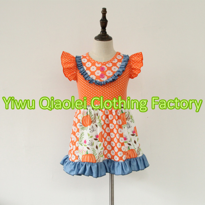 Small inventory Hot styles clothing halloween pumpkin outfits autumn boutique girl clothes set latest styles autumn