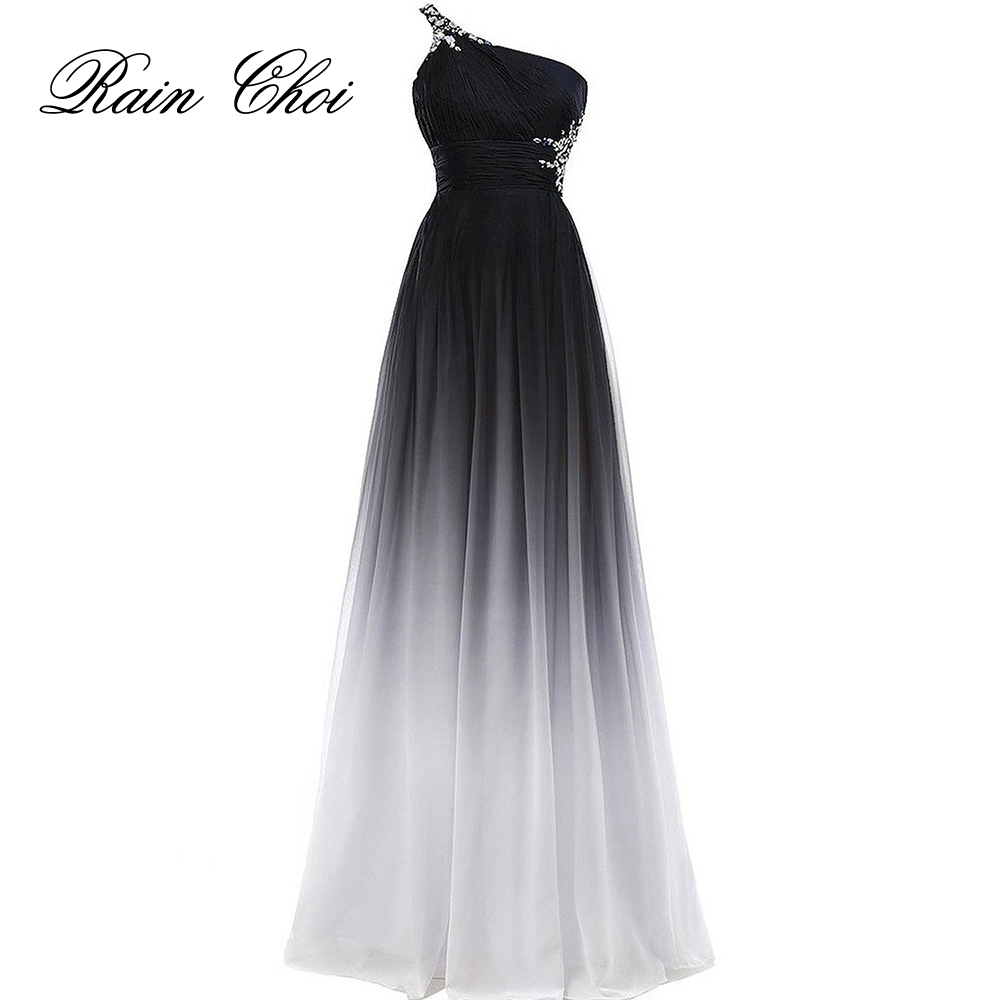 Elegant Evening Dress 2019 Purple Formal Prom Dresses Black Party Dress Blue Long Evening Gowns