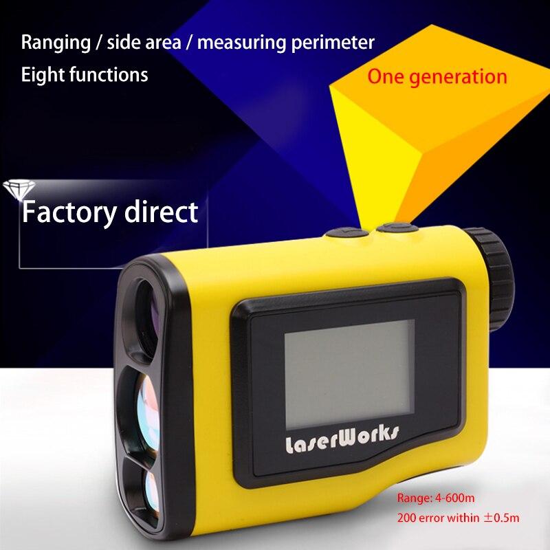 Nouveau LETER 600 mètres de mesure laser télémètre Hauteur mesure mesure de L'angle Horizontal mesure zone/circumferen