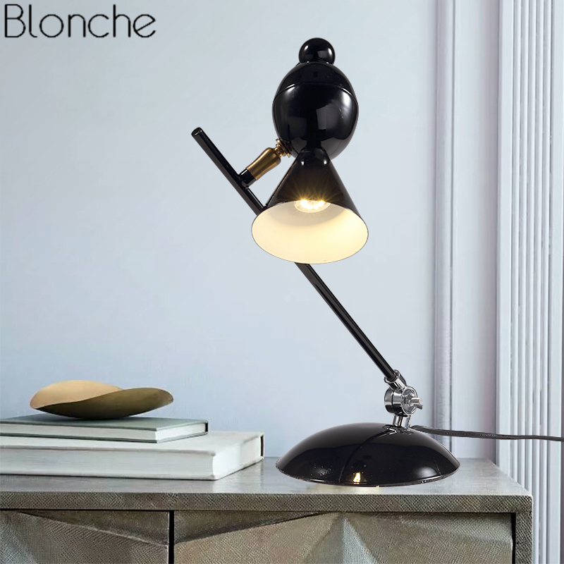 Modern Bird Table Lamp Magpie Reading Desk Lights for Living Room Bedroom Bedside Lamp Stand Lighting Fixtures Sconce Home Decor цена и фото