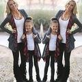 Мода Семья Костюмы Одежда Мать Дочь Кардиган Куртки И Пиджаки Симпатичные Девушки Женщин Пальто