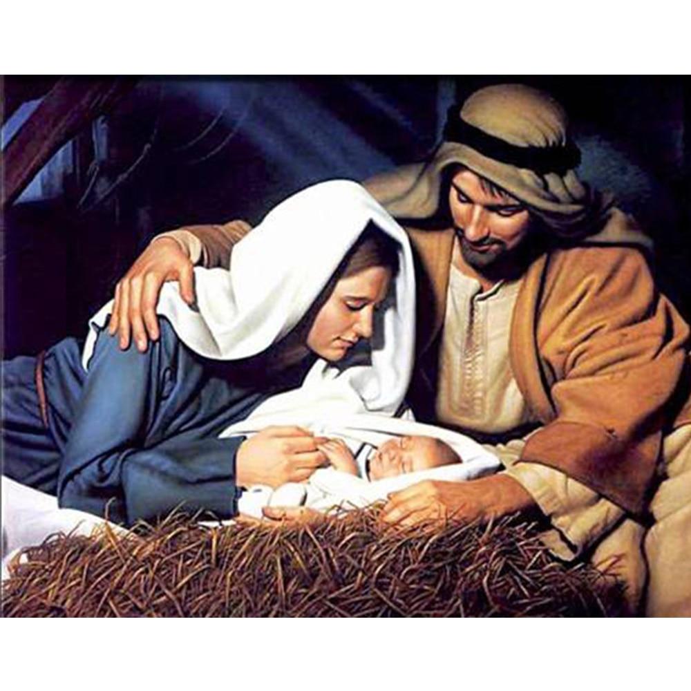 종교 부모 사랑 아기 패턴 다이아몬드 5D DIY 다이아몬드 그림 크로스 스티치 다이아몬드 그림 홈 장식 벽화 YZ81