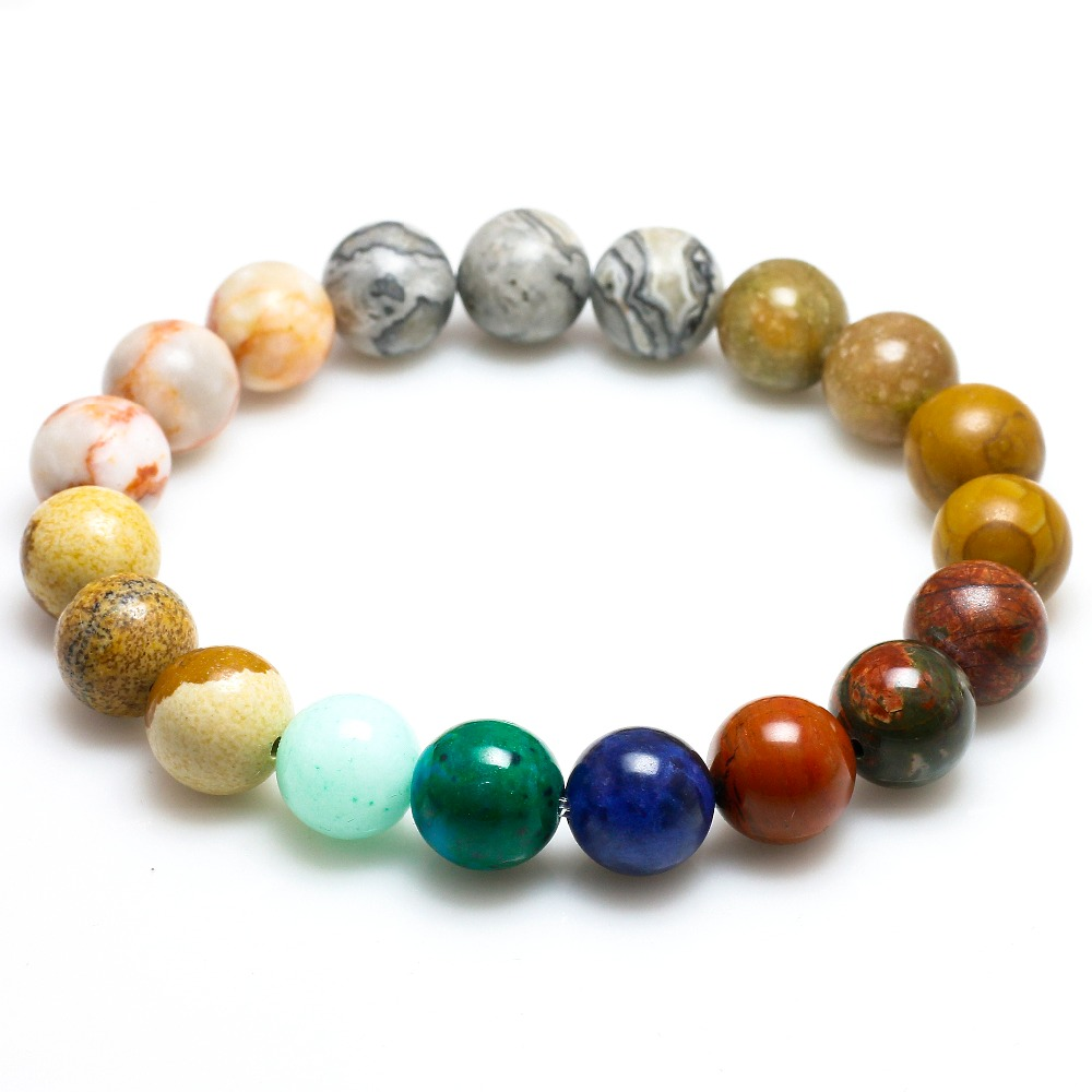 Universe Premium Space Planets Solar System Natural Stone Beads Bracelet 4