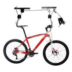 Starke Bike Radfahren Lift Decke Montiert Hoist Lagerung Garage Aufhänger Pulley Rack Metall Fahrrad Lift Baugruppen Bike Hebe Werkzeug