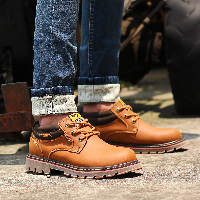 Aliexpress.com : Buy mens work boots brown safety boot for men ...