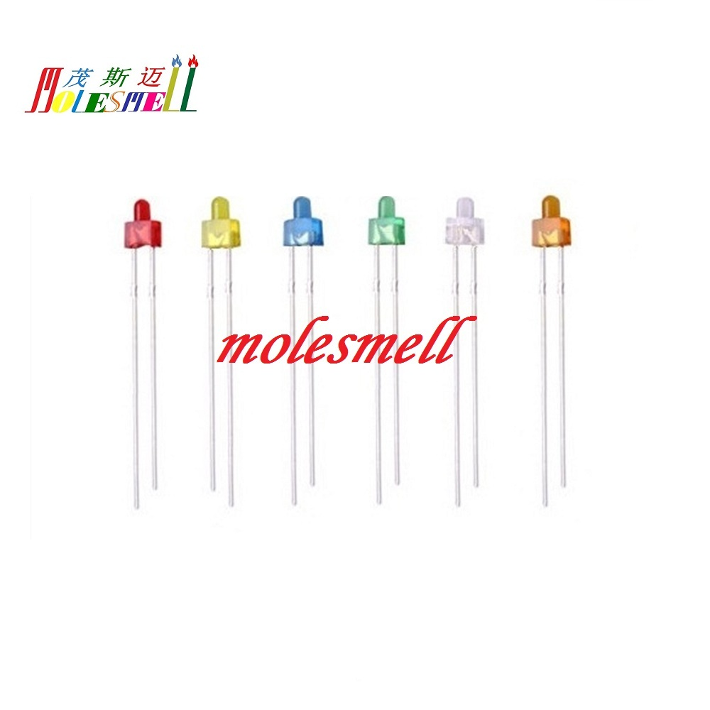 yellow LED 5mm Candle 5pcs green orange red blue