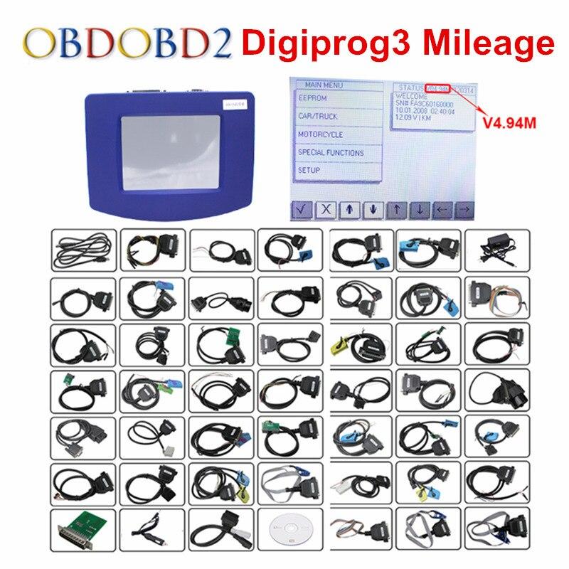 Цена за DHL Бесплатная V4.94 Digiprog III Пробег коррекции Digiprog 3 Пробег коррекции инструмента Программист Полный V4.94 Digiprog3