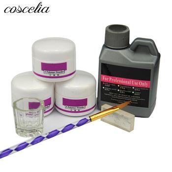 5e8da070ac09 7 unids set polvo acrílico Kit de uñas de cristal de acrílico polímero para  uñas de manicura necesito lámpara UV uñas arte cepillo