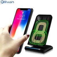 Ollivan Fast Qi Wireless Charger For Iphone X 8 Quick Charging Adapter For Samsung Galaxy S8