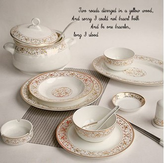 Bon Bone China 56PCS! Ceramic Porcelain Tableware,dinnerware Set,pottery  Bowls,dishes,