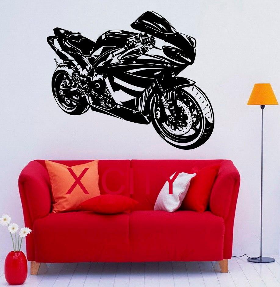 Motorbike Racing Motorcycle Street Pop Cool Decal Wall Vinyl Sticker