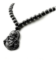 Drop shipping Natural Bianshi stone guanyin Buddha necklace pendantfor gift(China)