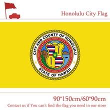 Free shipping US Honolulu City Flag 90*150cm 60*90cm 3x5ft Custom Banners The capital of Hawaii