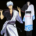 Anime Gintama Sakata Gintoki Cosplay Costume Black And White Suit
