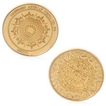 home office mexico. new maya commemorative coins gold plated mayan calendar mexico souvenir coin collection token home office i
