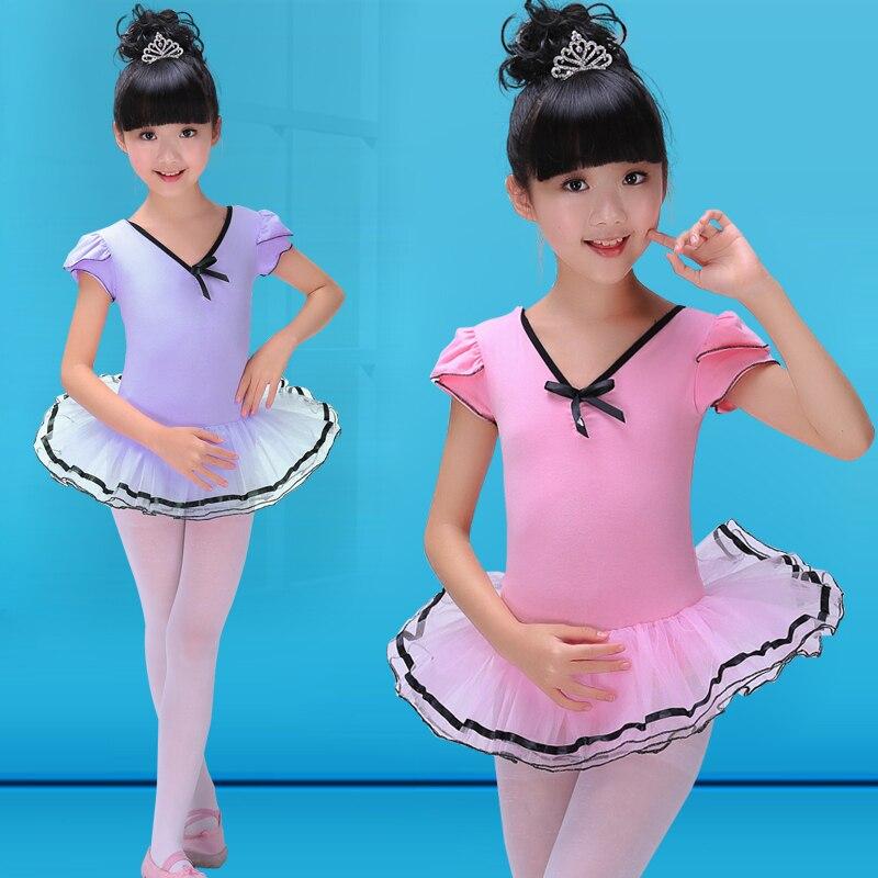 Swan Lake Ballet Costumes Ballet Clothes Children Pink/Violet Children Dance Dress For Ballet Girls Gymnastics Leotard Ballerina