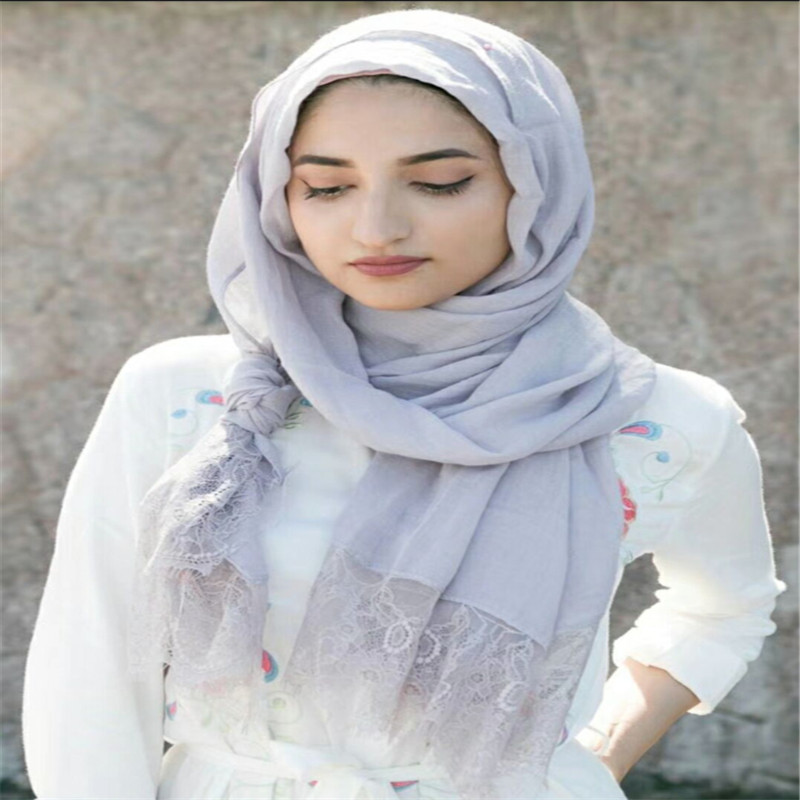 30 colors Ladies flower lace solid color embroidery edges viscose shawls winter nice hijab big size muslim scarves/scarf M3627