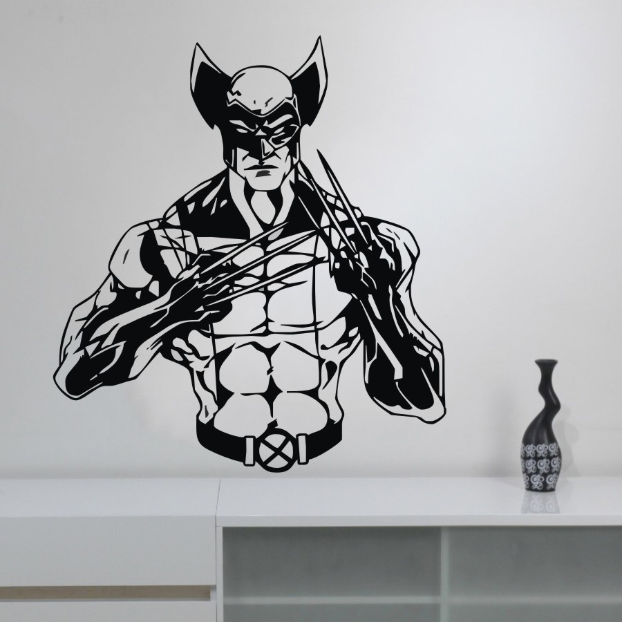 Lego Wolverine Marvel Superhero Childrens Bedroom Decal Wall Art Sticker Picture