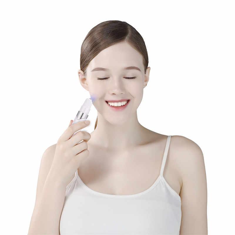 פנים עיסוי רך אקנה עט כחול לייזר טיפול מיקרו הנוכחי אור קמטים מכונת להירגע עט נייד הסרת צלקת מכשיר מסיר