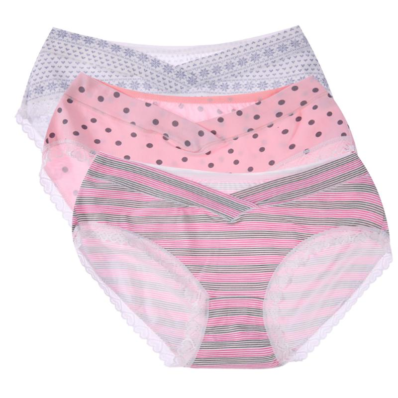 Pregnant Underwear 100% Cotton Maternity Panties 3pcs Pregnant Women Briefs Cotton U-Shaped Traceless Low Triangular Pants