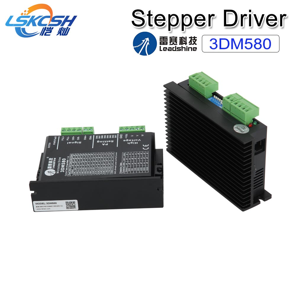 LSKCSH 3 Phase Laser Leadshine Stepper Driver 3DM580 18-50V DC 1.0-8.0A for Co2 Laser Engraving Cutting Machines  1390/1410 LSKCSH 3 Phase Laser Leadshine Stepper Driver 3DM580 18-50V DC 1.0-8.0A for Co2 Laser Engraving Cutting Machines  1390/1410