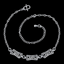 2016 Fashion Sexy Silver Color Beach Anklet multilayer Hollow rectangle Ankle Bracelet Foot Jewelry for Women Anklets Bracelet