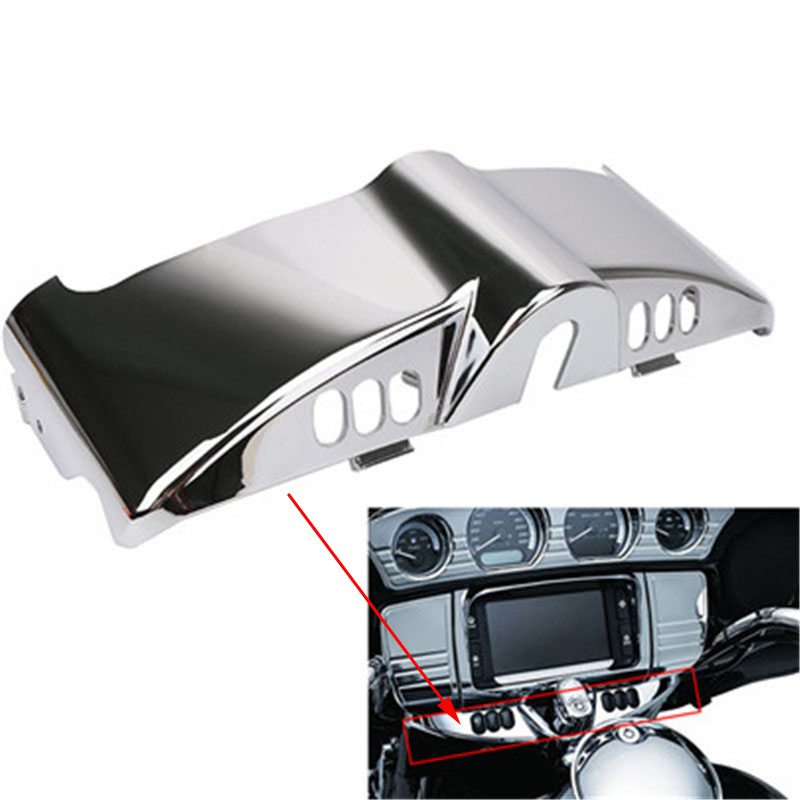 Motorcycle Fairing Cap Chrome Inner Metal Switch Panel Cover For Harley Touring Road King Street Glide