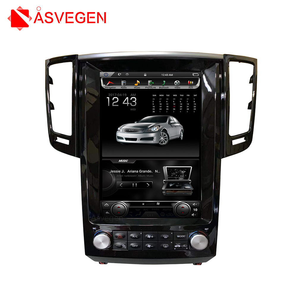 Car Multimedia Player For Infiniti FX37 Vertical Screen  Android 7.1 Quad Core 12.1 inch DVD Stereo Radio