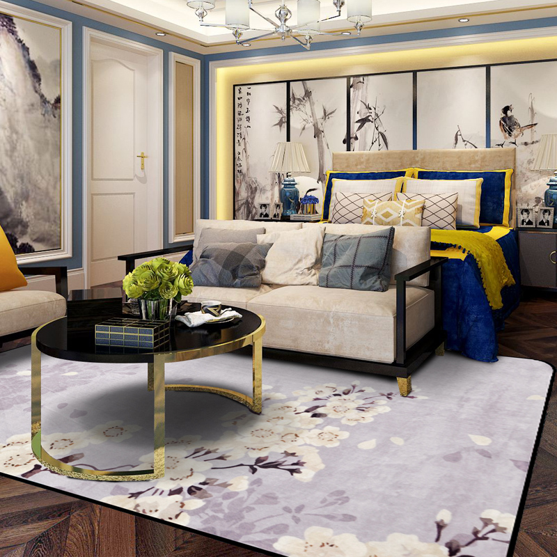 . US  36 4 30  OFF Chinese style living room carpet China style contracted  and contemporary bedroom bed spread carpet rectangle rug big tapetes in