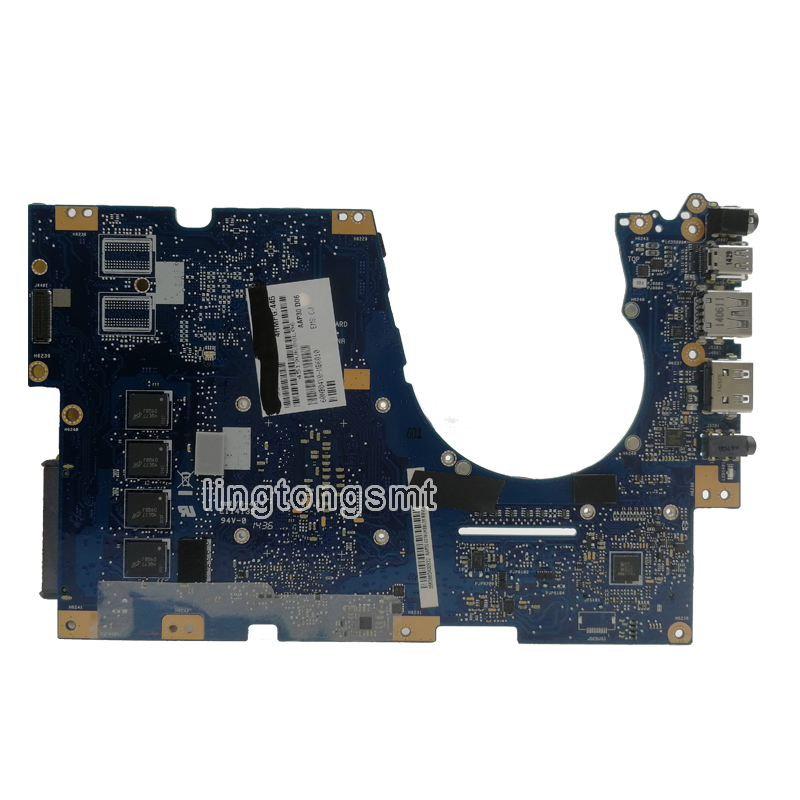 send heatsink UX303UA Motherboard 4GB RAM I5 5200 CPU For ASUS UX303UA UX303U UX303UB Laptop motherboard UX303UA Mainboard-in Motherboards from Computer & Office    3