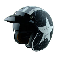 TORC T57 Vintage Motorcycle Helmet Jet Scooter Moto Helmets With Inner Sunny Lens Can Add Snap