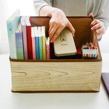 Складной тканевый книжный шкаф книжный журнал коробка для хранения Канцтовары ручка карандаш тестовая бумага стол Коробка для хранения