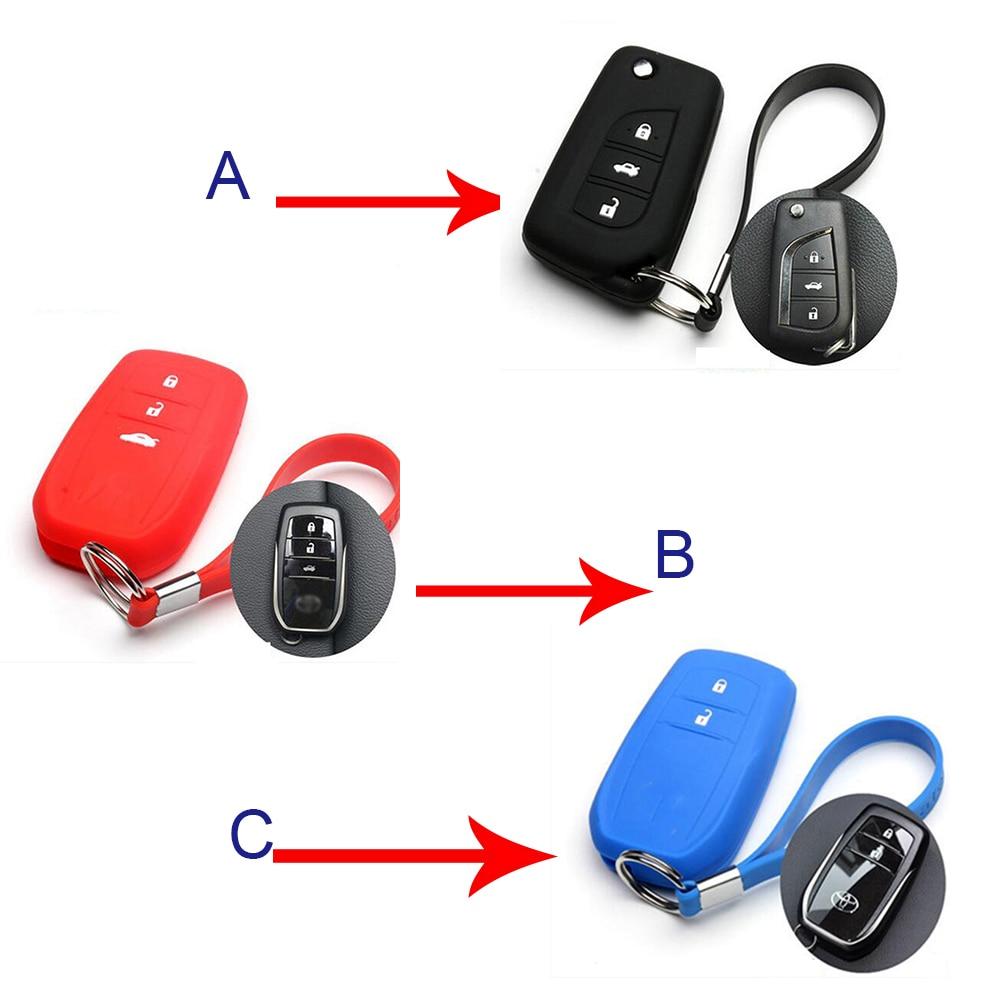 Keyless entry remote key fob skin case holder car key cover ring for toyota rav4 prado corolla reiz highlander camry corolla
