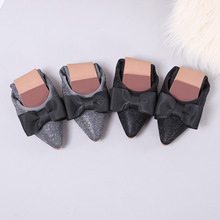 2019 new womens shoes flats luxury ballet loafers Pointed fashion casual woman Butterfly-knot Soft bottom Slip-On
