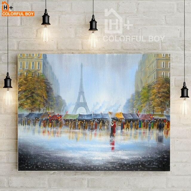 COLORFULBOY Liebhaber Regen Paris Landschaft Kunstdruck Aquarell ...