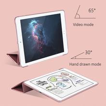 For iPad 2018 Case 9.7 2017 Funda Ultra Slim PU Leather PC Hard Back Tri-fold Stand Case for iPad 2018 / iPad Air 2 Air 1 Case