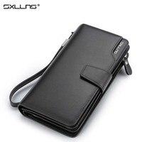 Man Wallet Sxllns Top Cowhide Men Wallets Brand Mens Wallet Leather Genuine Large Capacity Men S