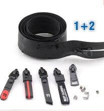 Купить с кэшбэком NO.5# invisible waterproof Zipper in bulk zipper double opening nylon Coil chain zippers for DIY Sewing Tents travel bags zipper