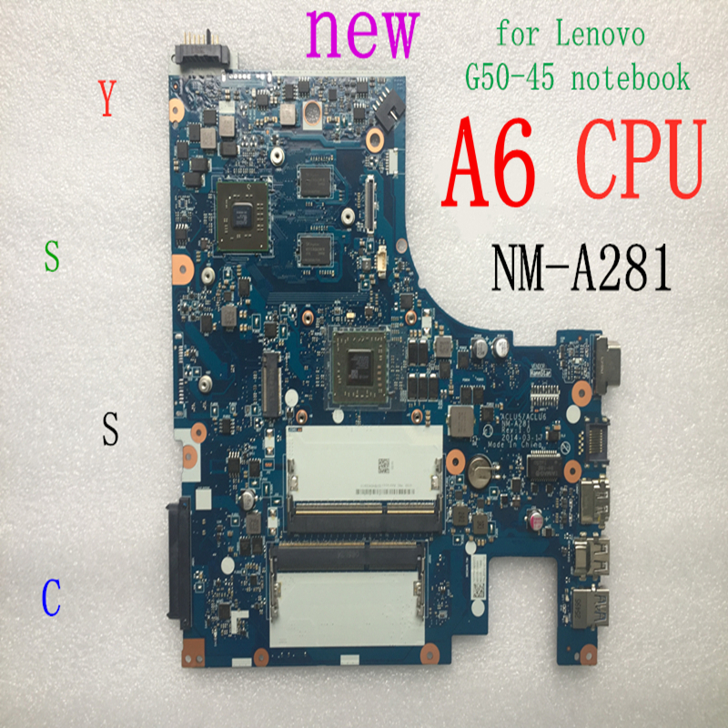 XCMCU New New NM-A281 Mainboard For Lenovo G50-45 Laptop Pc Motherboard(for Amd A6-6310 CPU + R4 GPU 2GB Video Card)100% Test OK