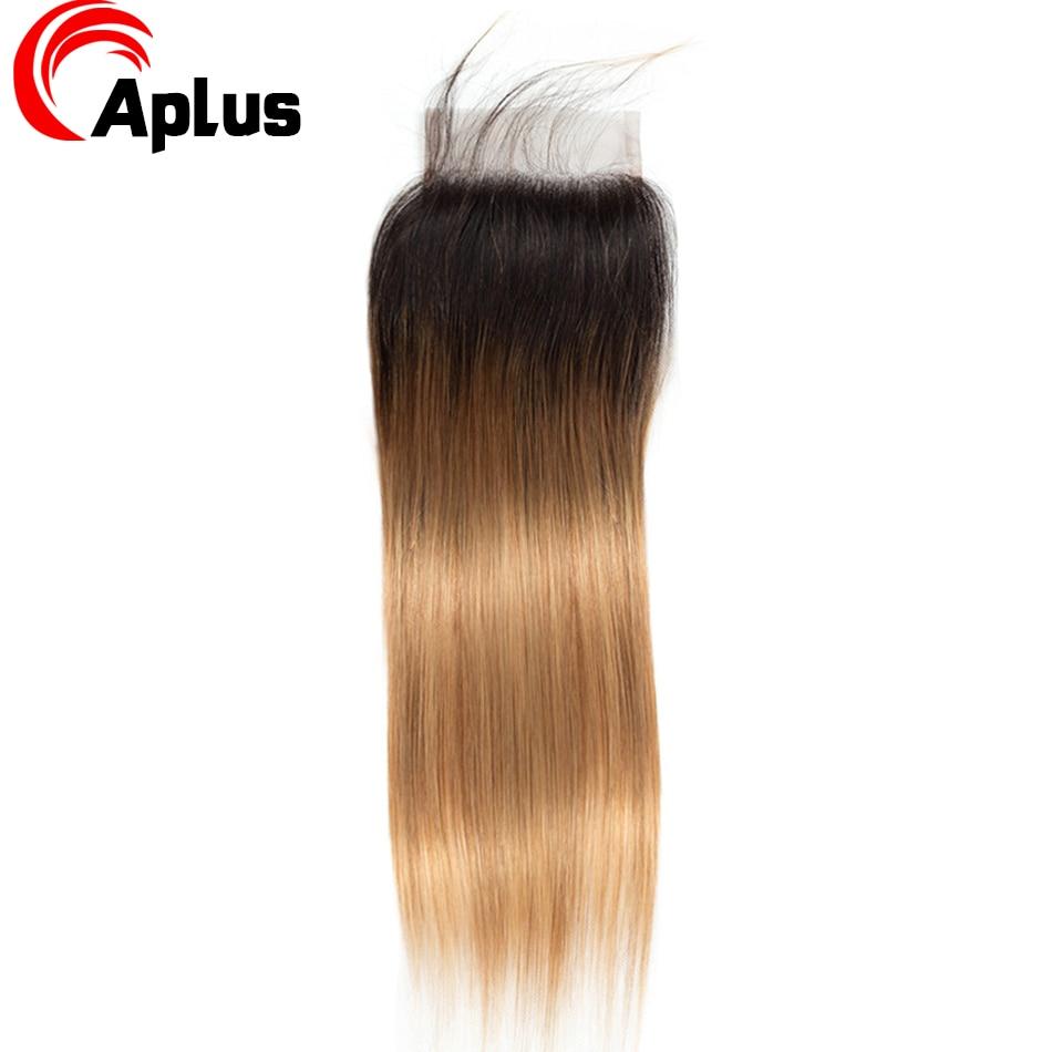 HTB11rbYw8smBKNjSZFFq6AT9VXaT Aplus Hair Peruvian Ombre Bundles With Closure Straight 1B/27 Honey Blonde Bundles With Closure NonRemy Human Hair Weave Closure