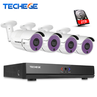 4CH 1080P HDMI P2P POE NVR Surveillance System Video Output 1 3MP IP Camera 960P HD