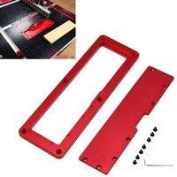 전기 원형 톱 플립 플레이트 테이블 모따기 보드 목공 작업 벤치에 대한 알루미늄 삽입 플레이트|수공구 세트|   -