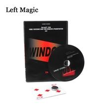 Окно от Дэвида Стоуна(Gimmicks+ DVD) Волшебные трюки изменение карты через стекло Волшебная комедия крупным планом иллюзии волшебные игрушки