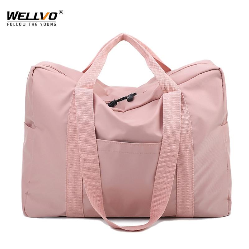 Women Travel Duffle Bags Oxford Waterproof Travel Bags Fashion Hand Luggage Big Bag Packing Cubes Men Duffel Weekend Bag XA56ZC
