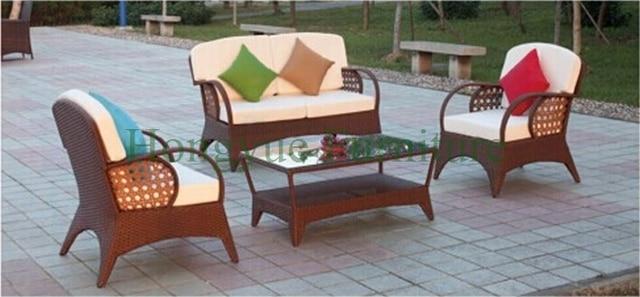 Patio rattan sofa furniture,outdoor rattan sofa set