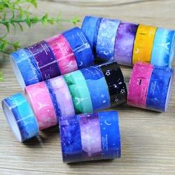 10pcs 1.5cm*2m DIY Sticky Adhesive Sticker Decorative Scrapbooking Washi Tape Star series cartoon tape Color Randomly 0070