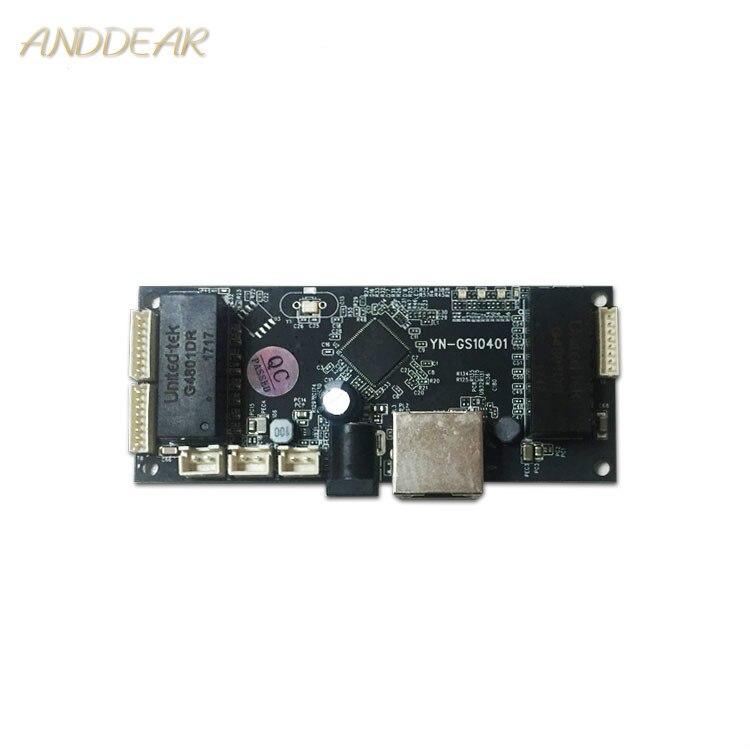 Industrial Ethernet Switch Module 10/100/1000mbps 4 port PCBA board OEM Auto sensing Ports PCBA board OEM  Motherboard|Wireless Module| |  - title=