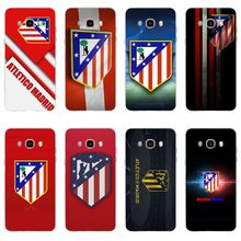 Atletico de Madrid S.A.D logo Cover TPU Phone Case For Samsung Galaxy S6 S6edge S6Plus A7 S7edge S8 S9 Plus A5 J2 J5 J7 2016(China)