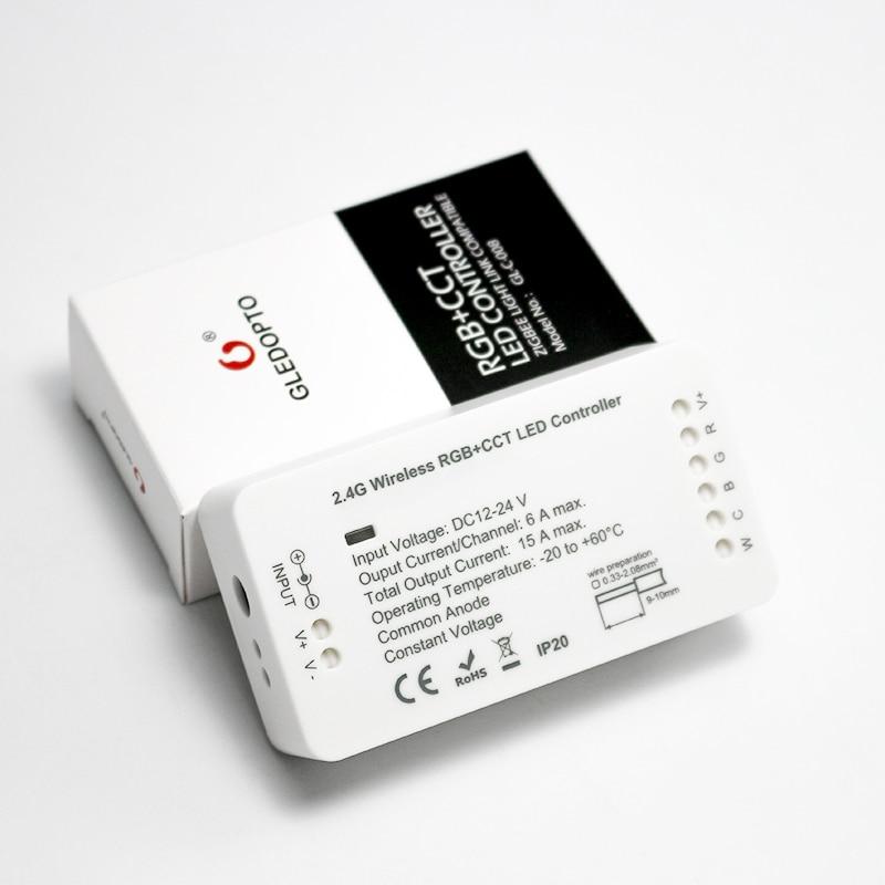 GLEDOPTO ZIGBEE zll link light RGBWW/CW led strip controller smart app work  Compatibilit with Amazon Echo Plus and ZIGBEE 3 0